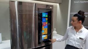 lg refrigerator instaview. at ifa this year, lg revealed the smart instaview door-in-door, a connected refrigerator that runs windows 10. lg