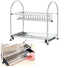 extra large stainless steel dish drying rack drainer board set folding
