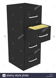 open file cabinet. 3d Render Of A File Cabinet With An Open Drawer D