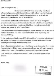 Drunk Driver Writes 'thank You' Letter To Upminster Officer Who ...