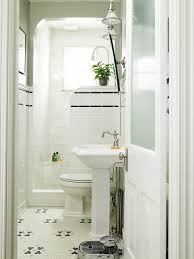 vintage bathrooms designs. Simple Vintage This Is One Of My All Time Favorite Small Bathrooms Black And White Mosaic  Floor Tile Frosted Glass Door Classic Pedestal Sink No Shower Curtain  And Vintage Bathrooms Designs