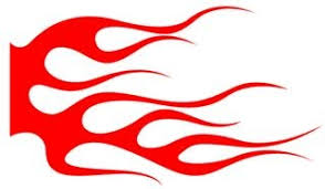 Flame Pattern Fascinating Flame Pattern 48 Decal Sticker