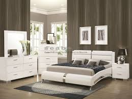 Modern Queen Bedroom Sets Inspirational Q Felicity White Chrome 6pc Queen  Bedroom Set