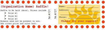 40 Free Editable Raffle Movie Ticket Templates Prizes For