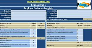 Job Evaluation Template Download Employee Evaluation or Employee Performance Evaluation ...
