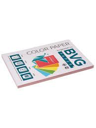 Цветная <b>бумага</b> BVG, <b>розовая</b>, 100 листов, тон Пастель ИД ...