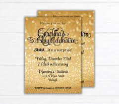 surprise birthday party invite surprise birthday party invite birthday party invitation sparkle