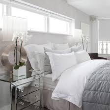grey white bedroom. Interesting Bedroom White And Grey Bed Under A Long Window With Grey Bedroom S