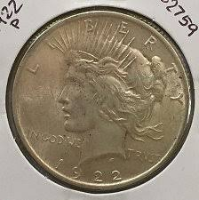 1922 Silver Dollar Value Chart 1922 Peace Silver Dollar Normal Relief Coin Value Prices