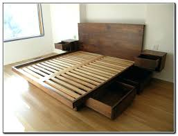 Diy King Size Platform Bed King Size Platform Storage Bed Build Your