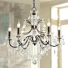 wide crystal chandelier chandeliers bronze frame clear regarding with crystals prepare full spectrum cascade 19 3