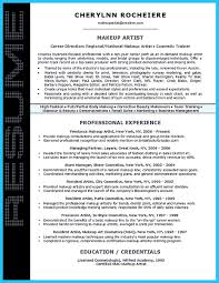 Artist Resume Template That Look Professional Makeup Cv Uk Exa