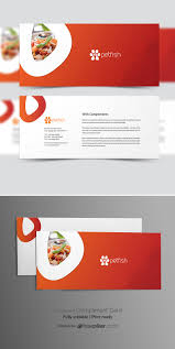 With Compliments Card Design Freepiker Healthy Food Restaurant Compliment Card