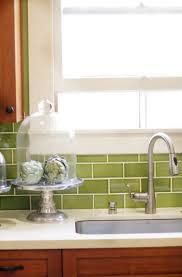 Green Tile Backsplash Kitchen Green Tile Backsplash Kitchen Home Design Ideas