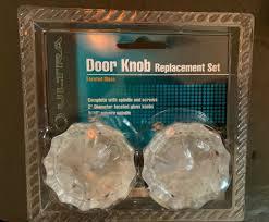 glass door knob replacement set 43013