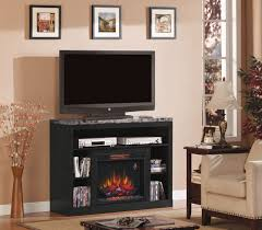image of cabinet entertainment center with electric fireplace