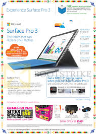 microsoft s sitex 2014 price lists flyers promotions deals surface pro 3 tablet dbs posb laptop sleeve grab n go pack