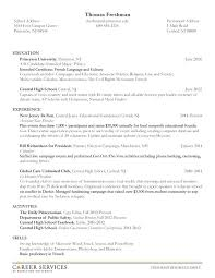 Resume Example For College Student Job Examples Students Objective ...