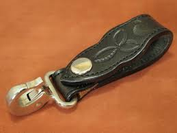 brand unknown thickness cow leather belt loop key holder key hook superior article used postage 164 jpy