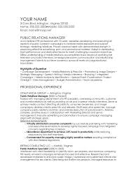 public relations sample resume public relations manager cv template