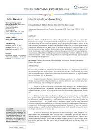 Pdf Medical Micro Needling