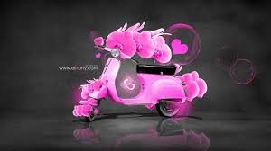 mini moto flowers fantasy