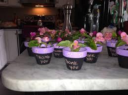 flower on pot homemade baby shower favors