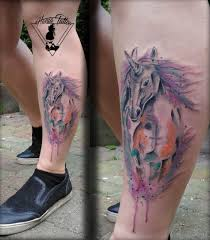 Tetování Jednorožec Ve Vodovce Watercolour Unicorn Tattoo