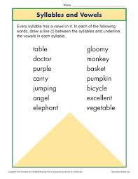 Free online 4th grade worksheets. Syllable And Vowel Worksheet Phonics Worksheets