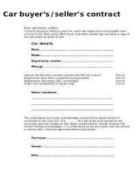 Sales Slip Template Selling Agreement Form Private Car Sale