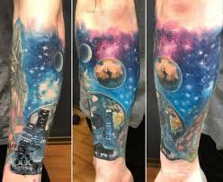 неземная роспись на теле тату космос значение стили эскизы