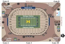Seating Chart Michigan Football Stadium Michigan Stadium Seating Chart