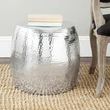 stool and side table at the same time coffeetables carpet trolleys in silver shine
