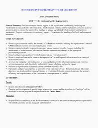 Customer Service Job Description Resume Customer Service