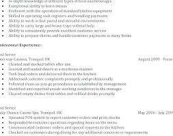 waiter resume sample resume template waitress resume template waitress resume templates