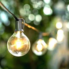 round bulb string lights clear