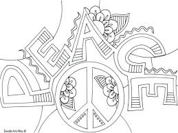 Peace Coloring Page Peace Coloring Page Sign Pages Printable