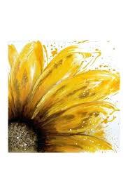 garden sunflower wall decor yellow daisy oil painting canvas art on garden sunflower wall decor