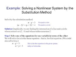 example solving a nar system by the substitution method