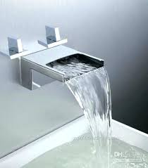 deck mount waterfall tub faucet amazing of waterfall bathroom faucet bathtub basin sink spout mixer tap