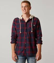 Mens Designer Flannel Departwest Flannel Hooded Shirt Mens Products In 2019