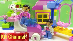 Đồ chơi trẻ em Lego Bé Na lắp ghép Bạn đến chơi nhà Stop motion Kids toys -  YouTube
