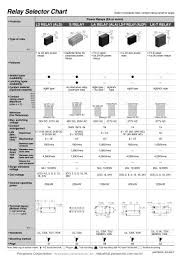 Power Relay Selector Chart Matsushita Electric Works Pdf