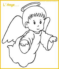 L Ange Tourn Vers La Droite Colorier Noel Pinterest Pour Dessin De Anges L