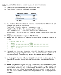 Grading Chart For 40 Questions Solved Write A C To Calculate Different Operations And