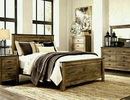 rustic log bedroom furniture varnished log wood king size bed grain