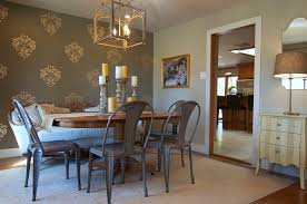 image of metal dining room chairs traditional