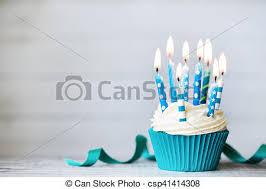 birthday cupcake candles blue.  Candles Birthday Cupcake  Csp41414308 With Cupcake Candles Blue C