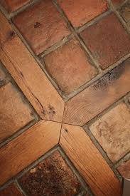Terra Cotta Floor Tile Kitchen A Custom Tile Wood Mixed Floor Good Idea For Transitioning From