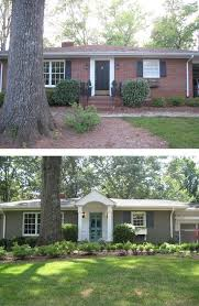 new entryway and paint add curb appeal to this brick ranch